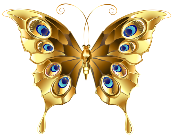 Gold Butterfly Png Clip Art Image Butterfly Clip Art Butterfly Free Clip Art