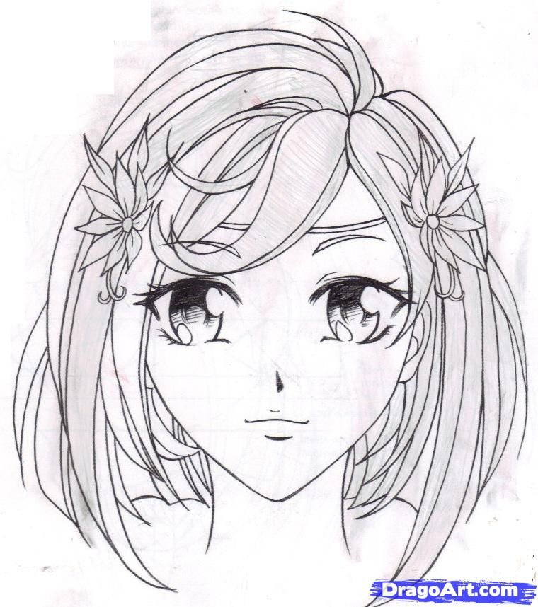 step by step how to draw anime girl
