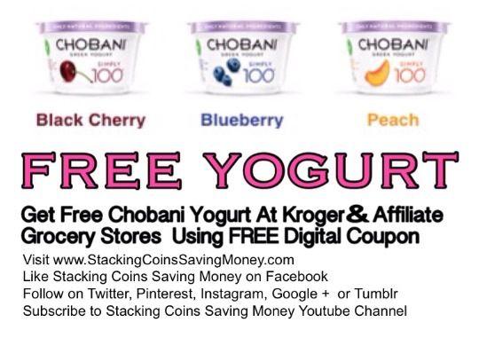 Free Chobani Yogurt 2015 Receive One Free Chobani Simply 100 Greek