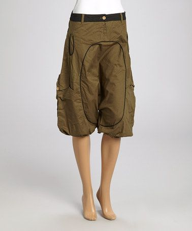 This Khaki Cargo Pocket Harem Pants - Women by Coline USA is perfect! #zulilyfinds