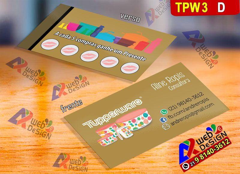 Cartoes De Visitas Brasil Tupperware Tupperware Cartao De