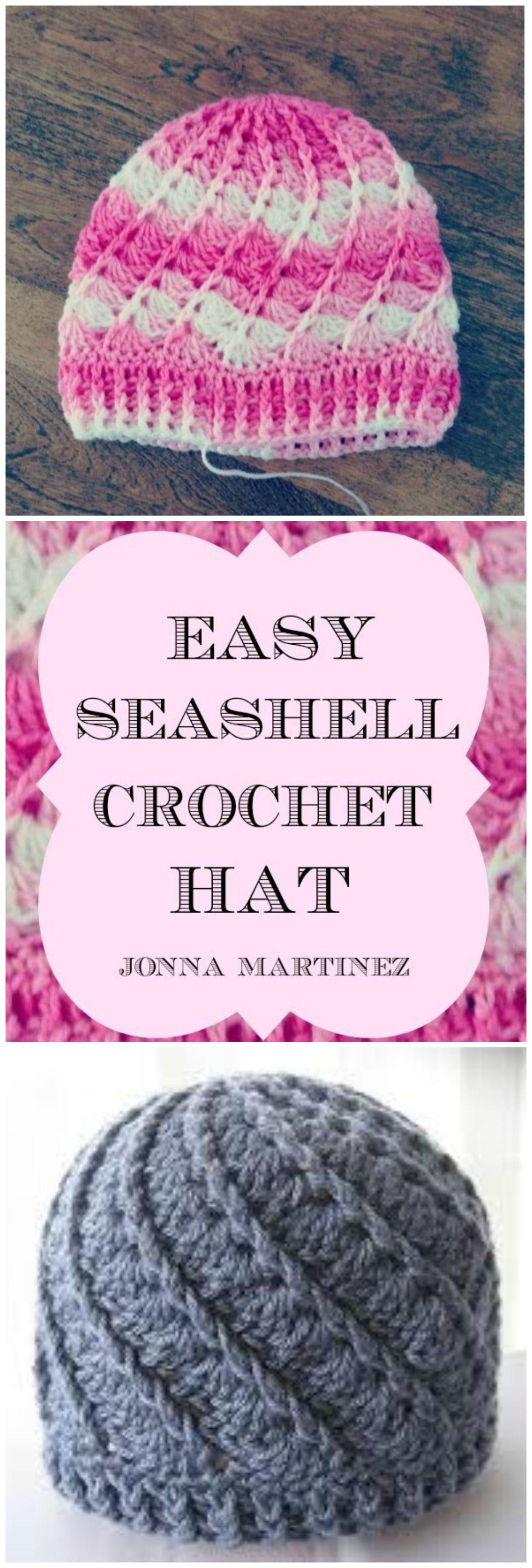 How to Crochet Sea Shell Hat | Mütze, Häkeln und Hauben