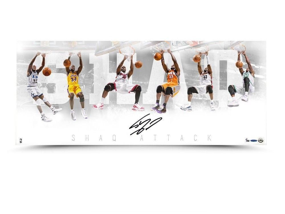 16c3518342a2  SportsMemorabilia.com -  SportsMemorabilia.com Shaquille O Neal Signed  Autographed 36X15