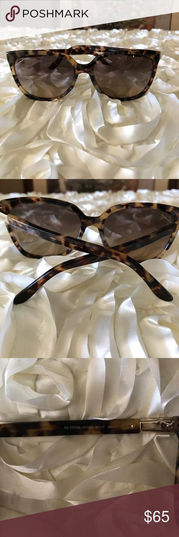 d3da569d18a98 Gucci Sunglasses Please read description carefully Authentic Gucci Tortoise  shell Colored Sunglasses GG 3502
