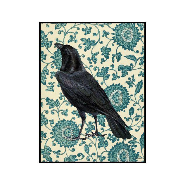 Poster Blackbird & Ram 20x25cm, Vanilla Fly
