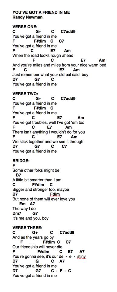 You\'ve Got a Friend in Me: Ukulele   Music-Lyrics and Chords ...