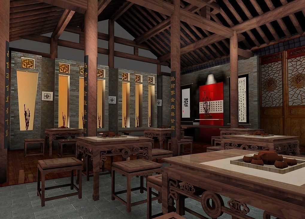 Chinese interior design chinese teahouse interior design for Chinese home designs