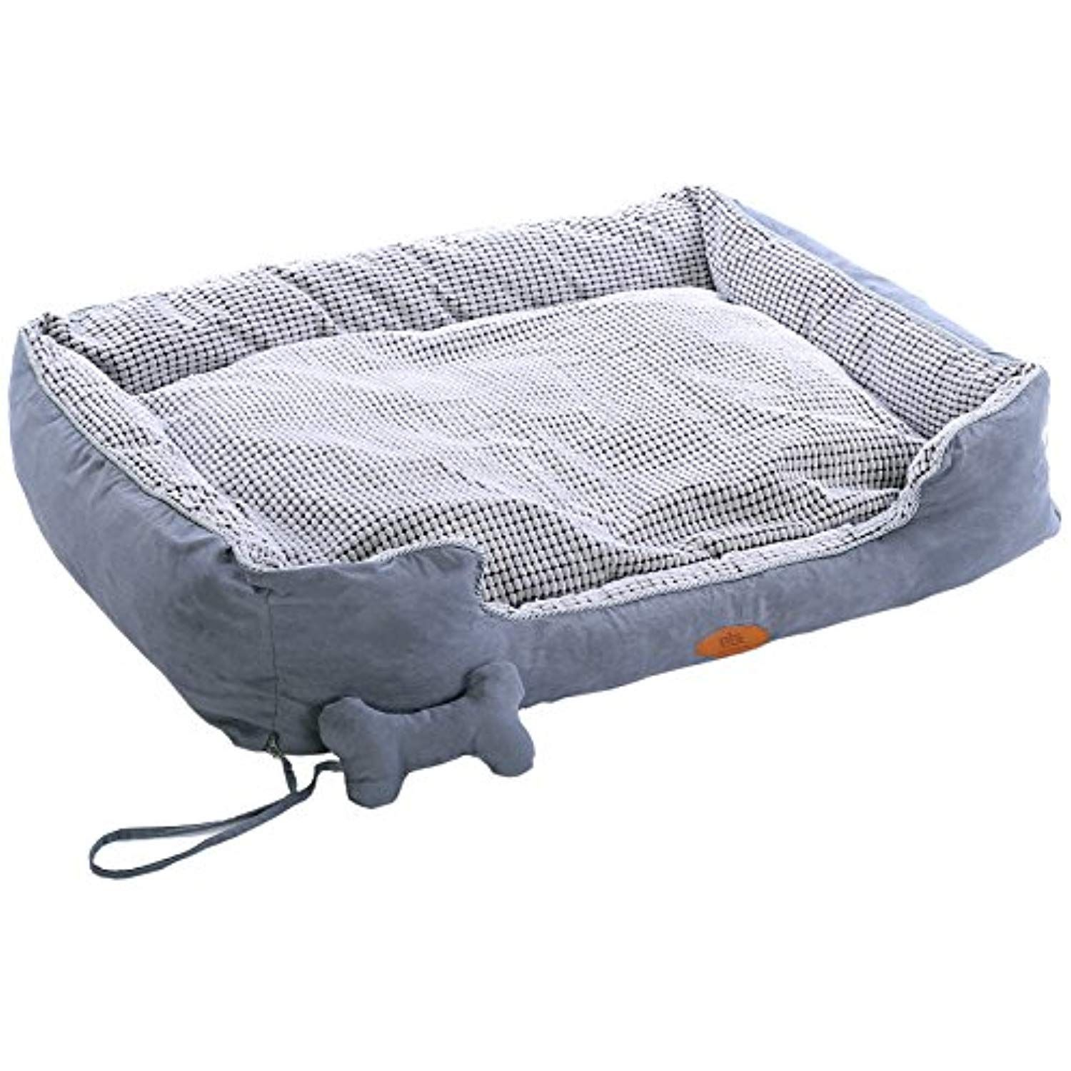 Pls Birdsong Paradise Bolster Extra Large Dog Bed With Pillow Gray Extra Large 35wx47l Dog Beds For Large Dogs Compl Dog Bed Large Bolster Dog Bed Dog Bed