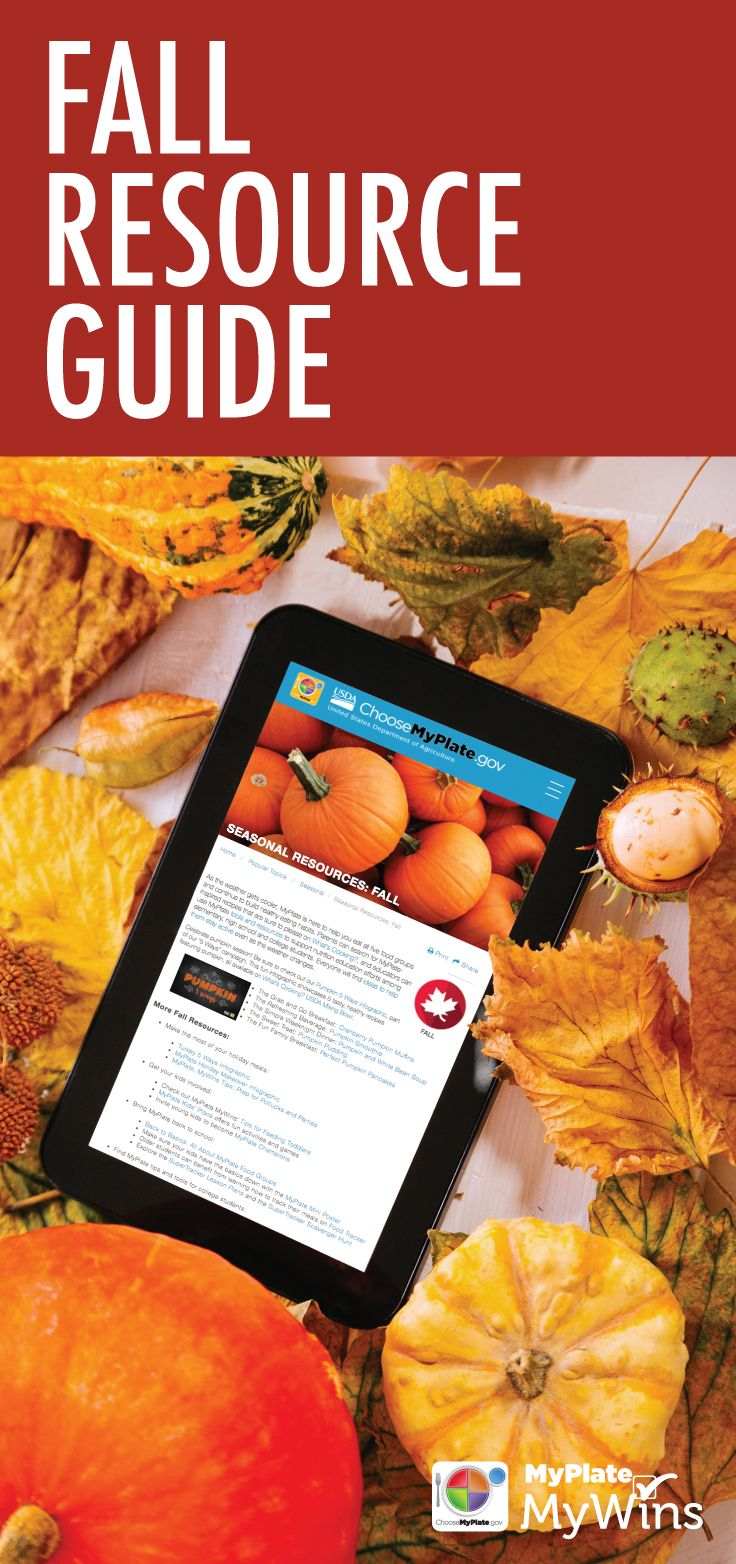 Find resources, fallinspired recipes and more on our