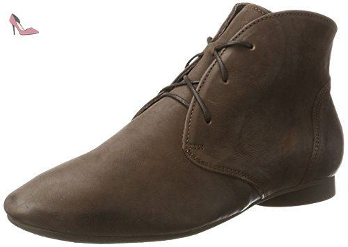 Think Shua, Desert Boots Femme, Rouge (Rosso/Kombi 72), 43 EU