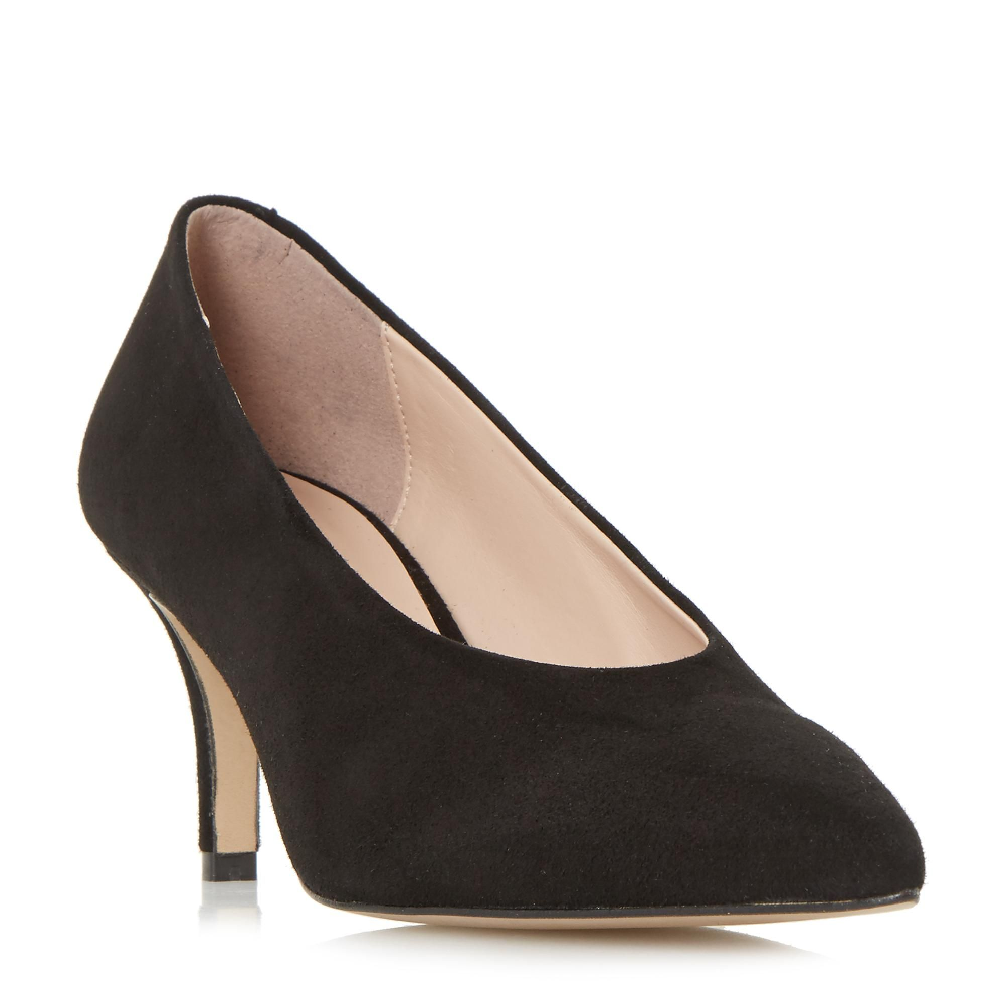 4b117623b51a DUNE LADIES AMORRELL - V Cut High Vamp Point Toe Court Shoe - black