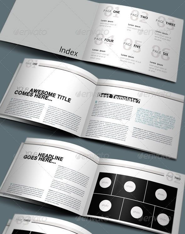 A4 Modern Clean Booklet \/ Catalogue \/ Brochure Print Design - pamphlet layout