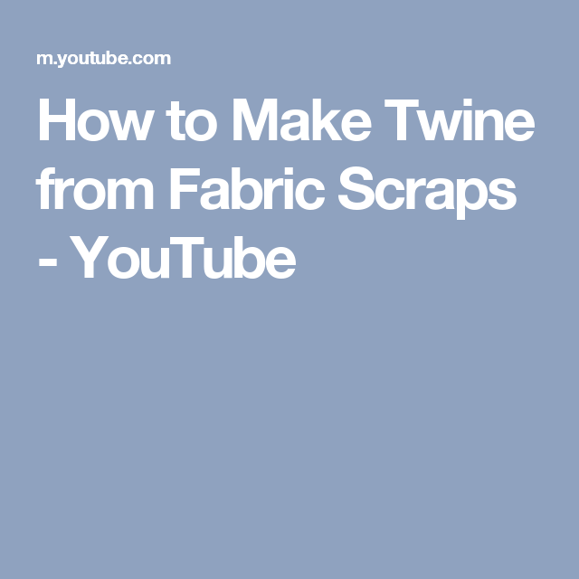 e62d056d7f3 How to Make Twine from Fabric Scraps - YouTube Unicorn Headband