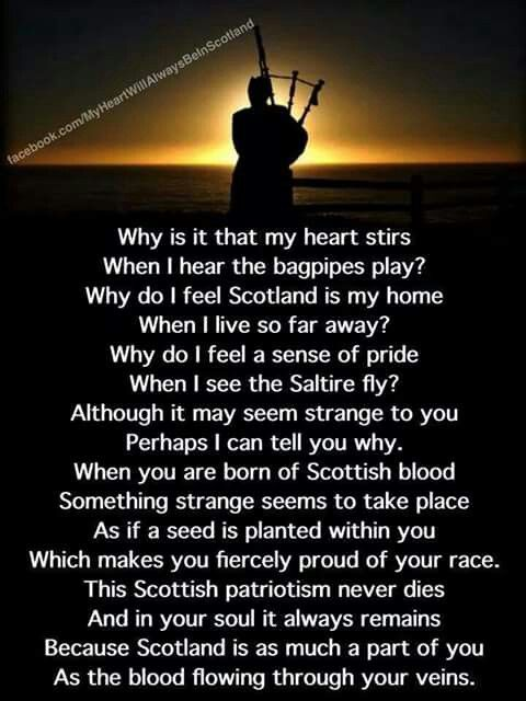Why Is It That My Heart Stirs When I Hear The Bagpipes