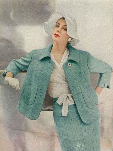 Vogue 1955 | Photographed by Roger Prigent.