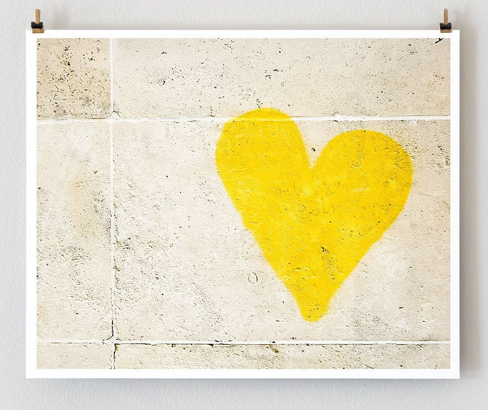 A Yellow Heart | happiness in yellow | Pinterest | Yellow wall decor ...