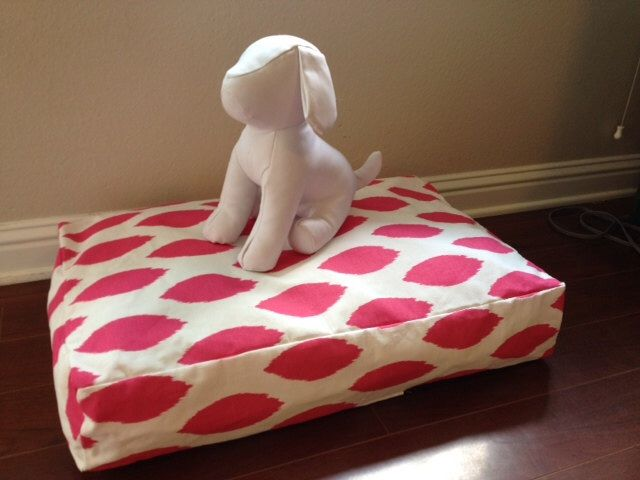 Pink Modern Dots Dog Bed COVER Size LARGE by GlamMutts on Etsy https://www.etsy.com/listing/176403147/pink-modern-dots-dog-bed-cover-size