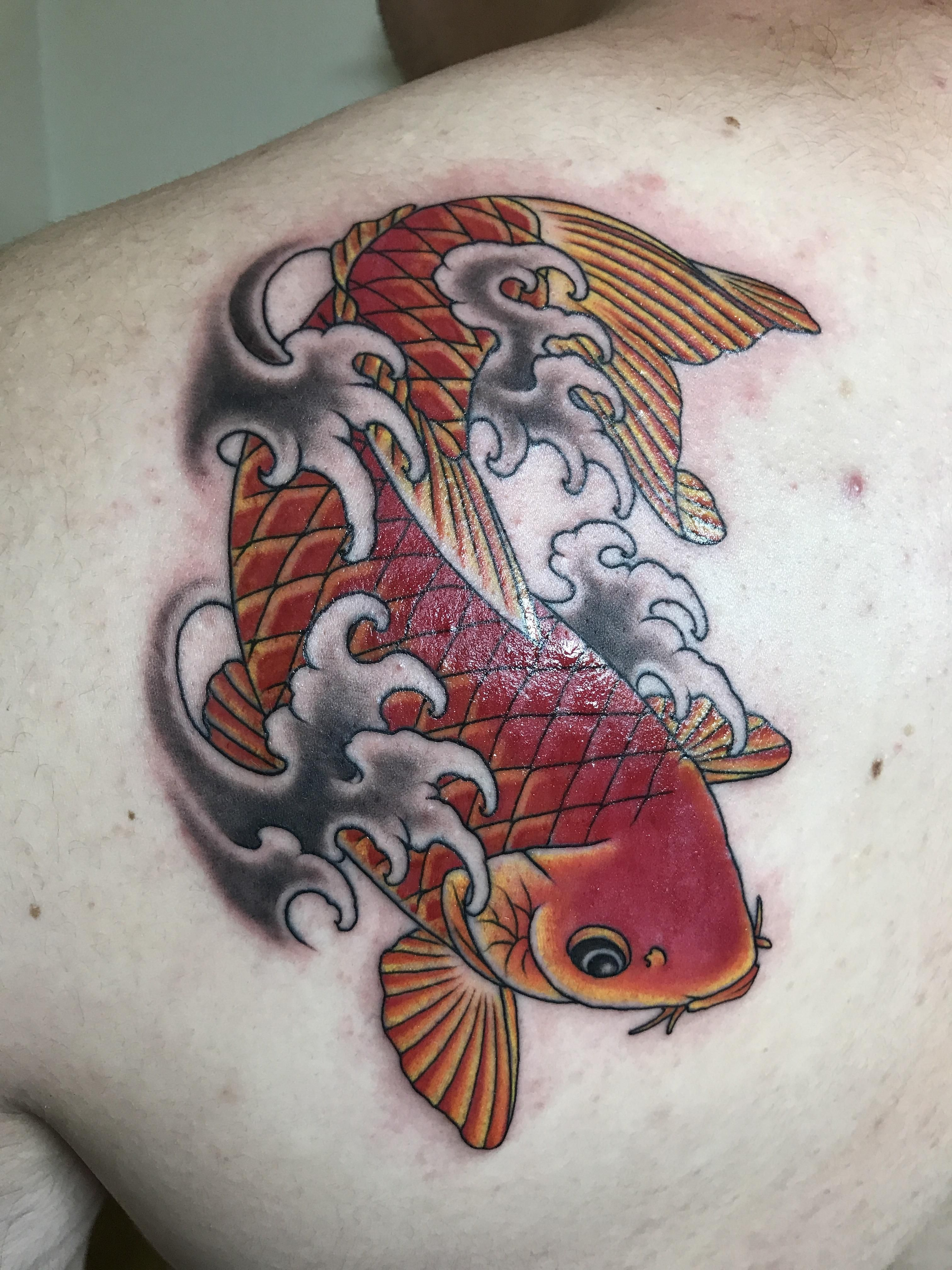 Amazing Colored Koi Fish Tattoos Image Collection - Drawing Coloring ...