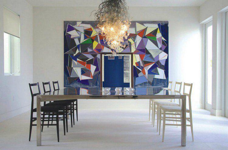 Tableau Abstrait Moderne, Salle À Manger Minimaliste Avec Table