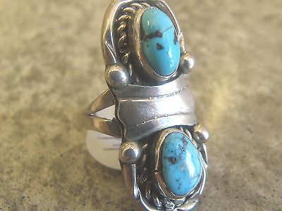 #1970s size 7 sterling #silver #turquoise ring 9 grams #4.1,  View more on the LINK: http://www.zeppy.io/product/gb/2/171425847872/