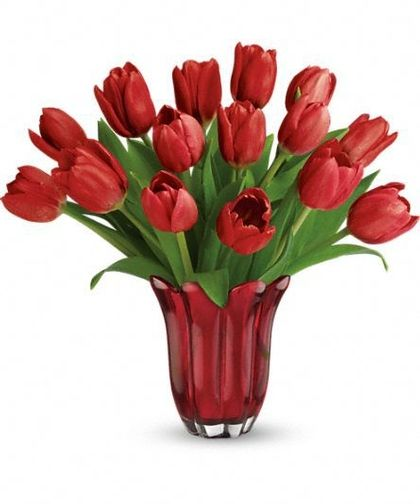 Teleflora's Kissed By Tulips Bouquet at Stadium Flowers for $44.98