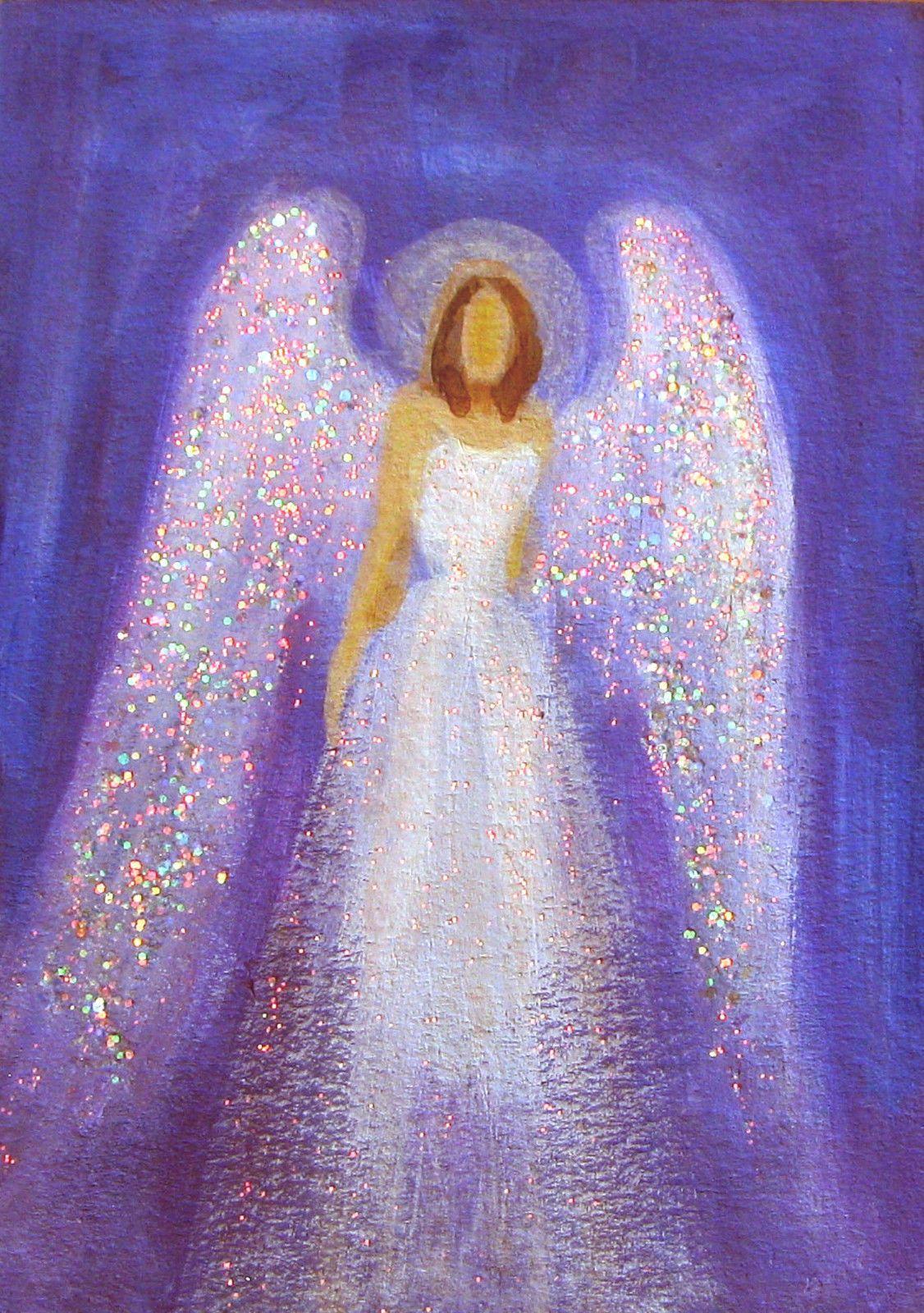 Aceo Original Angel Painting Spiritual Inspirational ...