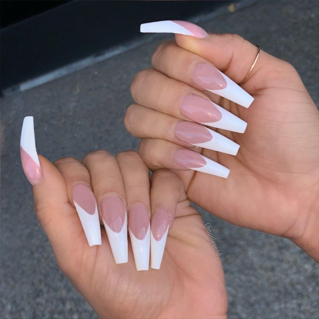Chaun P On Instagram Deep Arches Will Get Chu Boyfran Lol Rosaacosta Handpainted White Tip Acrylic Nails French Tip Acrylic Nails White Acrylic Nails