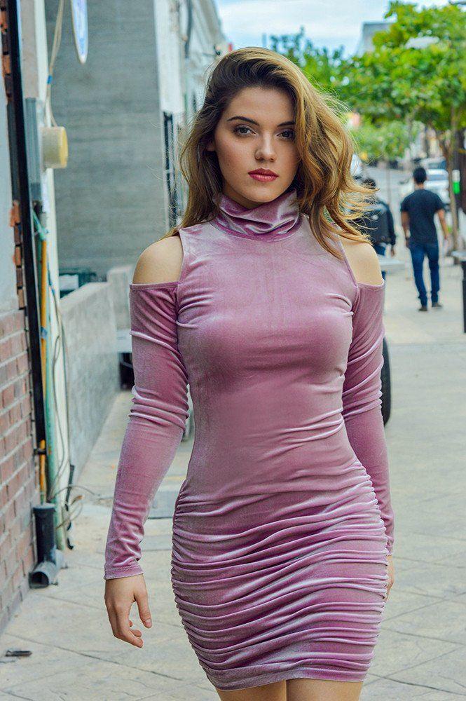 Vestido de terciopelo con drapeado - OH MY! STORE | fancy ...