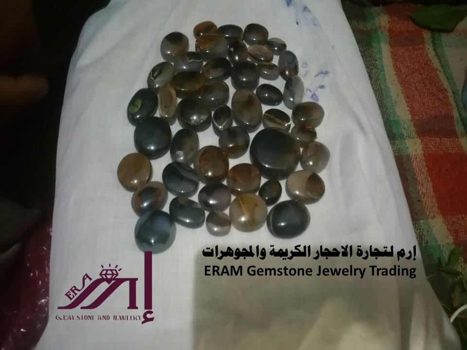 العقيق اليماني المشجر والمصور الطبيعي 100 Agate Gemstone Jewelry Gemstones Trading
