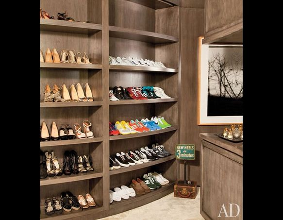 thought this was cute. portia and ellen's closet. {architectural digest}