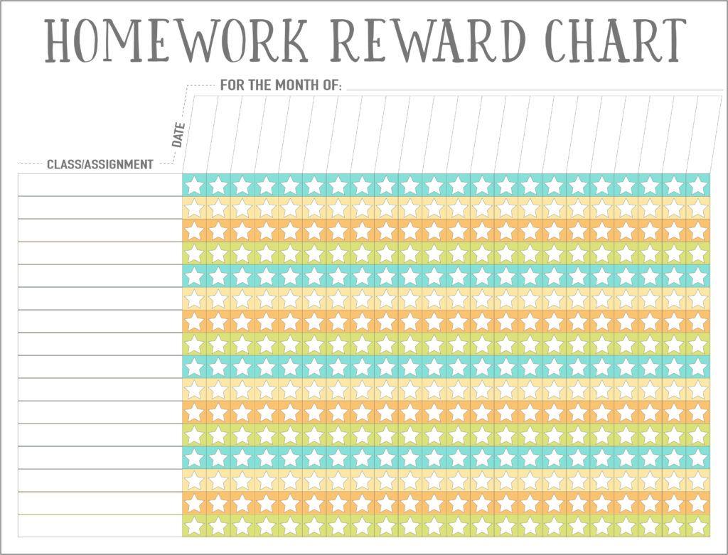 Homework Reward Charts