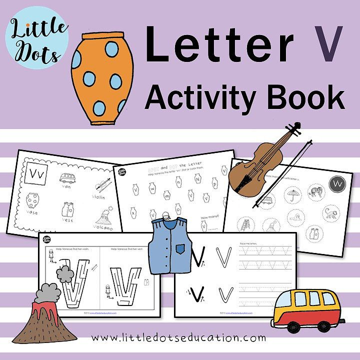 Preschool Letter V Activities And Worksheets