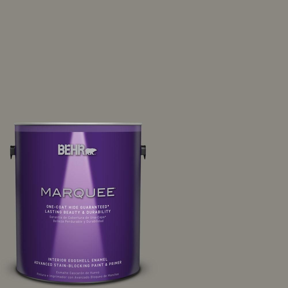 BEHR MARQUEE 1 gal. #hdc-NT-23 Wet Cement One-Coat Hide Eggshell Enamel Interior Paint