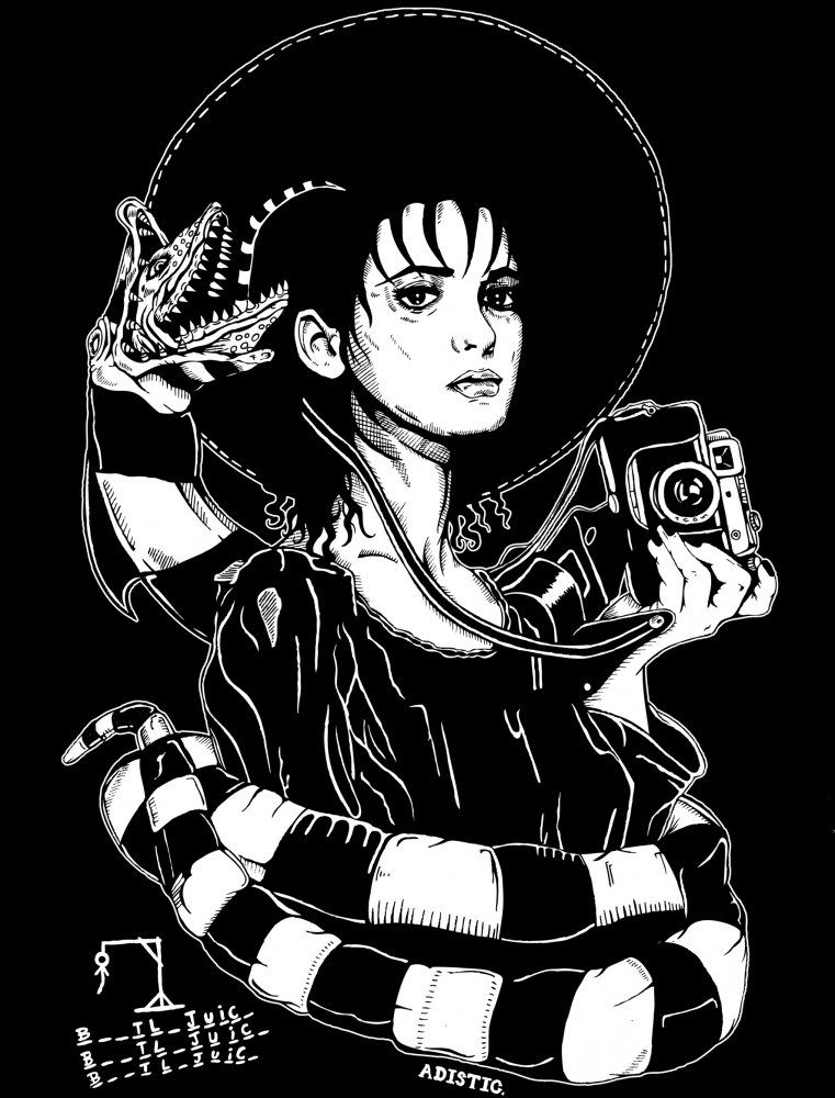 Lydia Deetz Beetlejuice Adistic With Images Tim Burton Art
