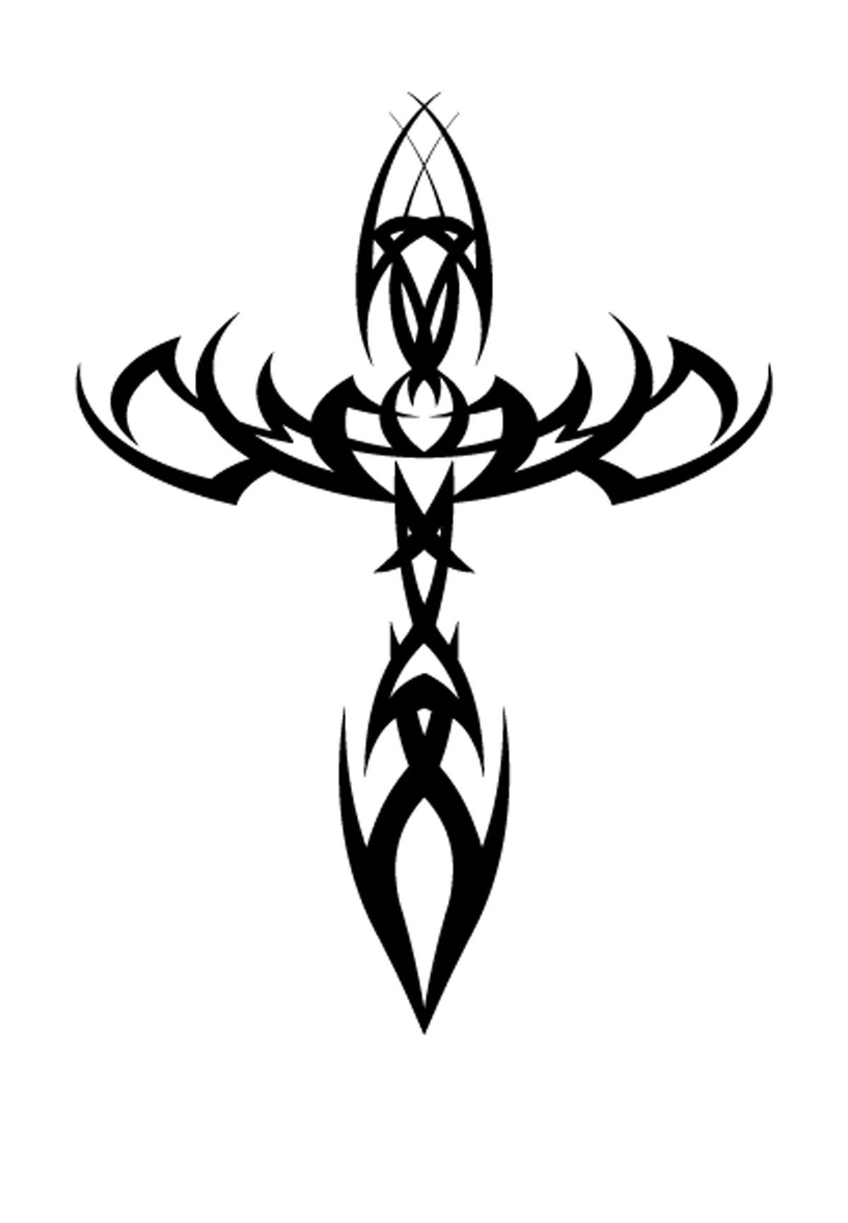 Picture of a black tribal cross #10