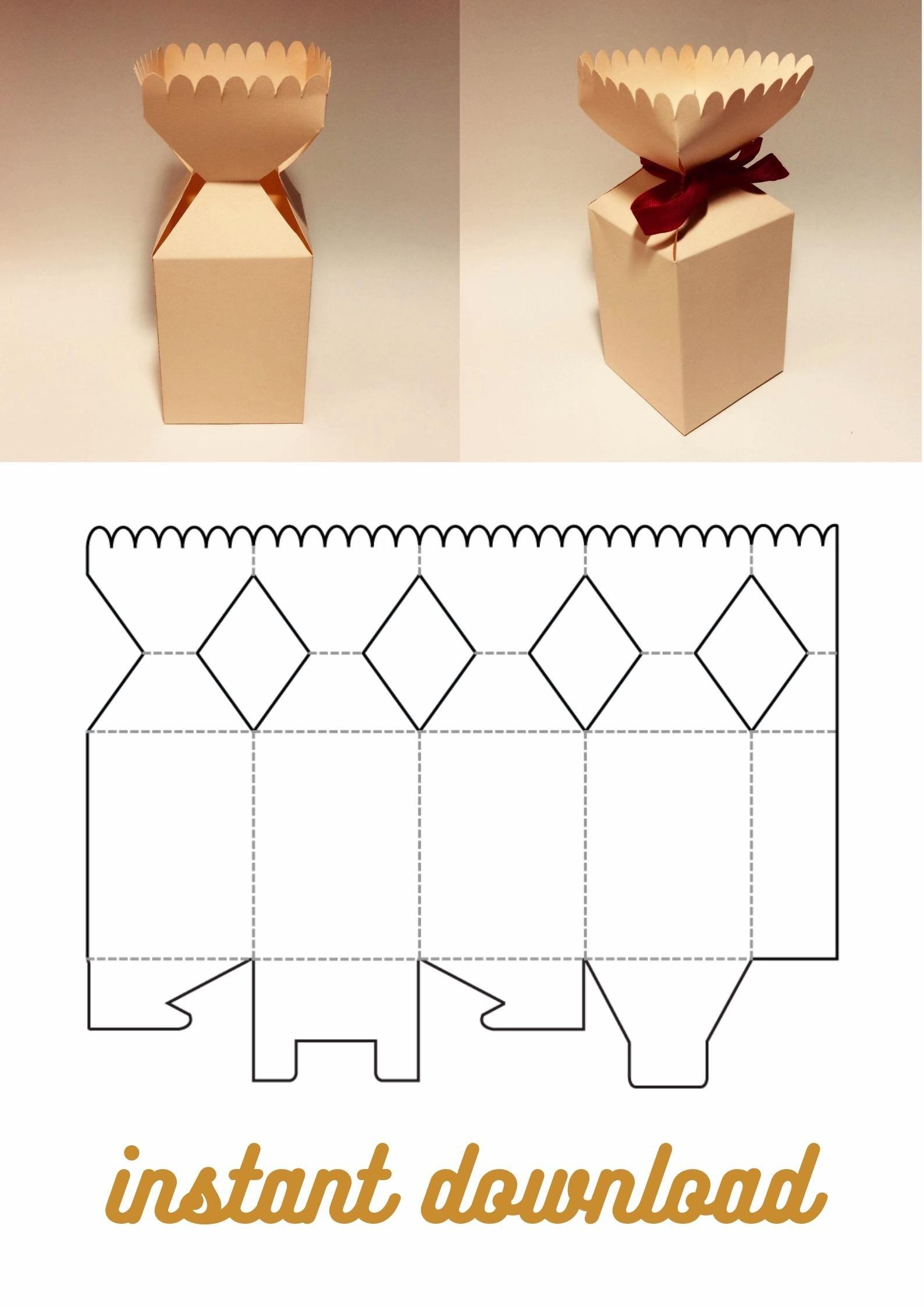 Cracker Box Template Candy Box Christmas Cracker Box Etsy Video Video Christmas Gift Box Template Box Template Diy Gift Box Template