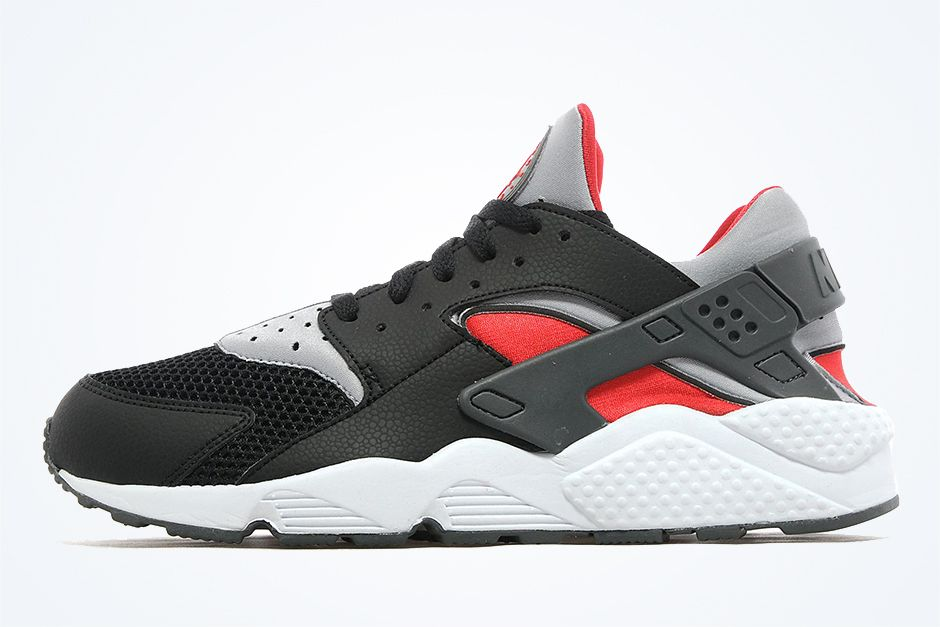 Nike Air Huarache Black Wolf Grey Red