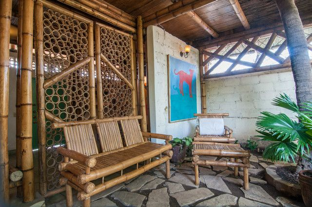 Bamboo House Sustainable Home Interior Design In Nicaragua Beach Interior Design Eco House Design Tropical Patio