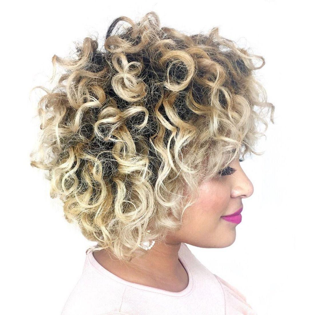 41++ Blonde balayage short curly hair ideas