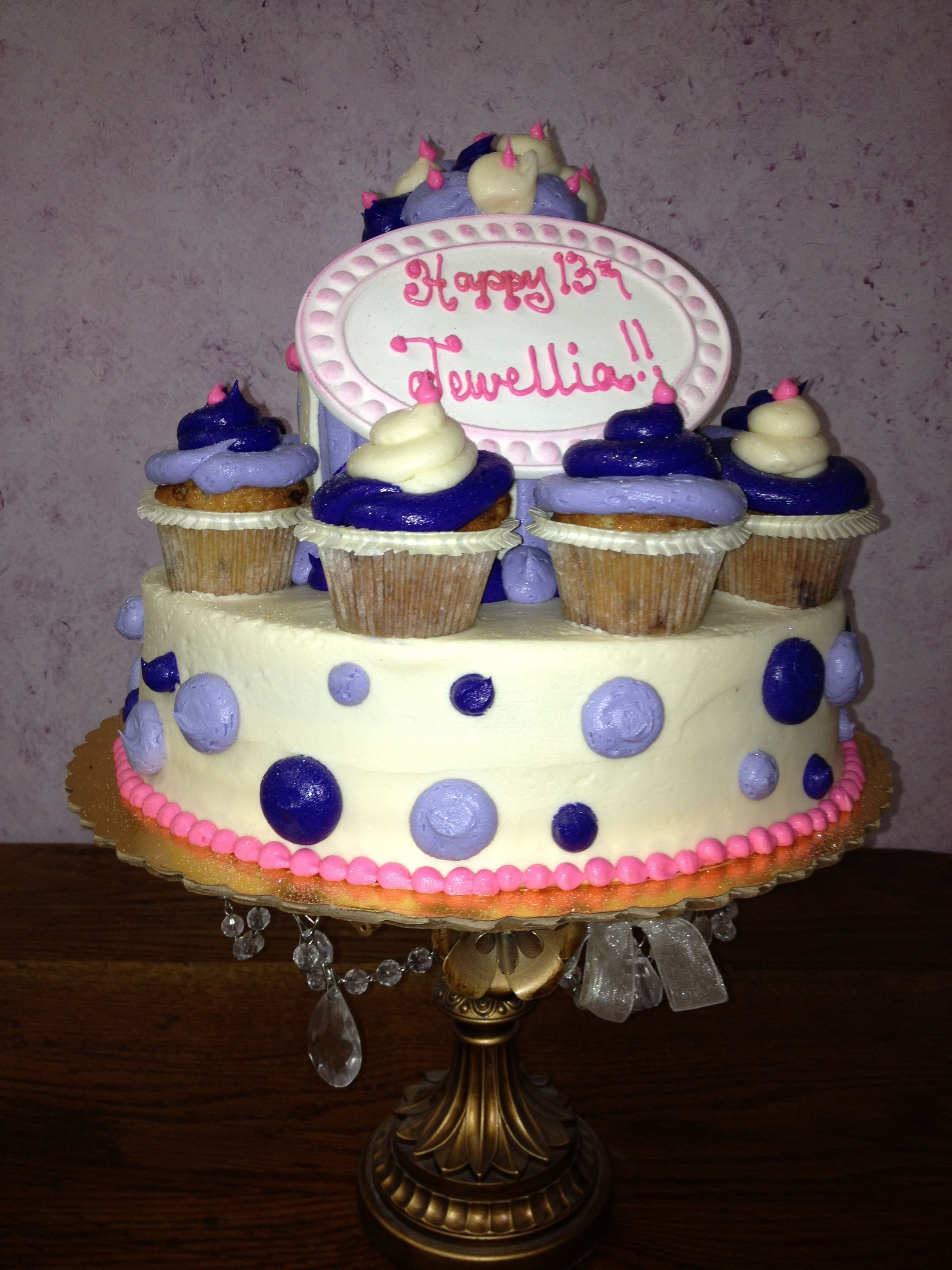 Mini cupcake and cake Birthday Cakes and Cupcakes Pinterest