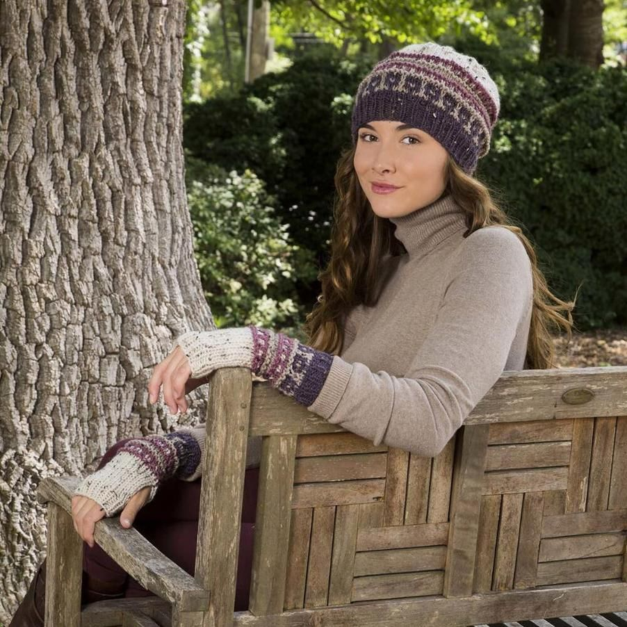 Downton Abbey Slip Stitch Hat and Mitts Free Download #slipstitch