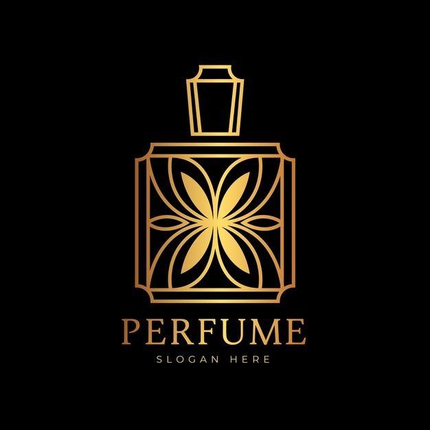 Luxury Perfume Logo Template: Baixe Luxo E Logotipo De Perfume De Design Dourado