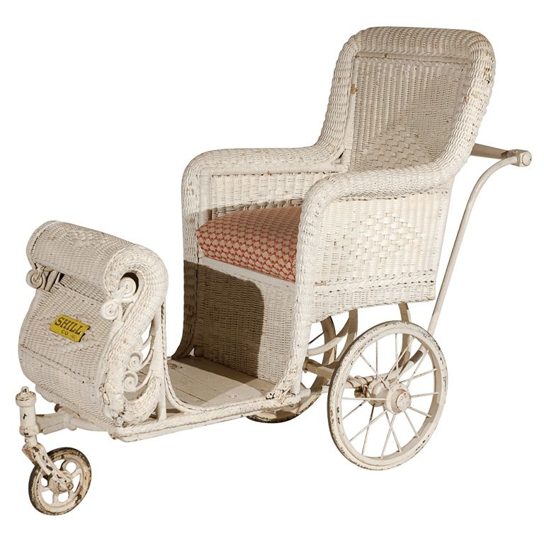 Antique Wicker Boardwalk Rolling Chair From Atlantic City, Shill Rolling  Chair Co.in About 30 Years!