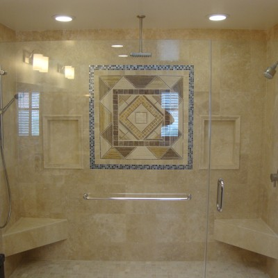 travertine showers and tub surrounds - google search
