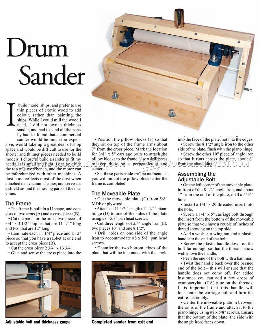 Diy thickness sander diy woodworking woodworking