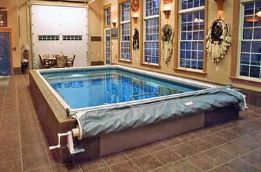 Install An Indoor Pool In Your Garage Indoor Pool House Indoor Hot Tub Hot Tub Room