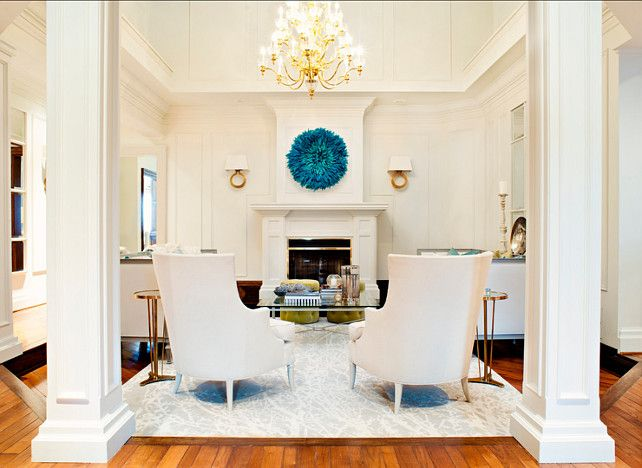 Great white interiors with punch of color white interiors