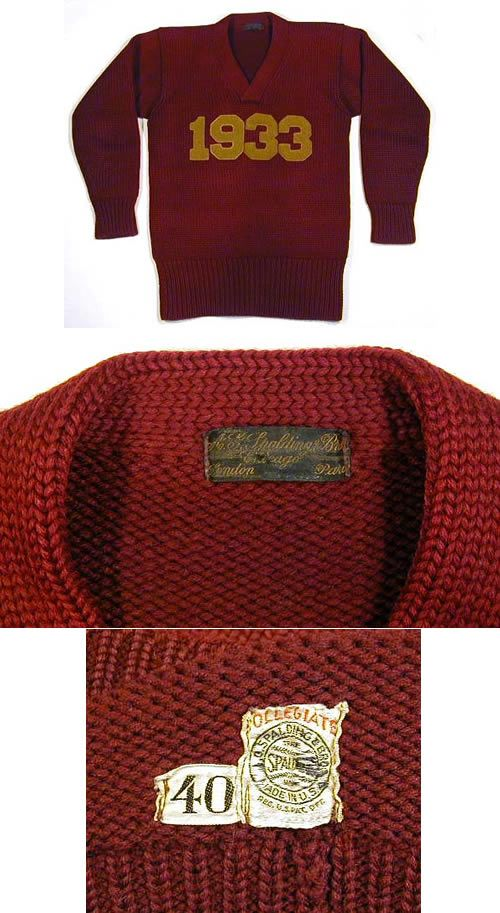 0109de6621ce6 1933 Boston College Letter Sweater made by Spalding