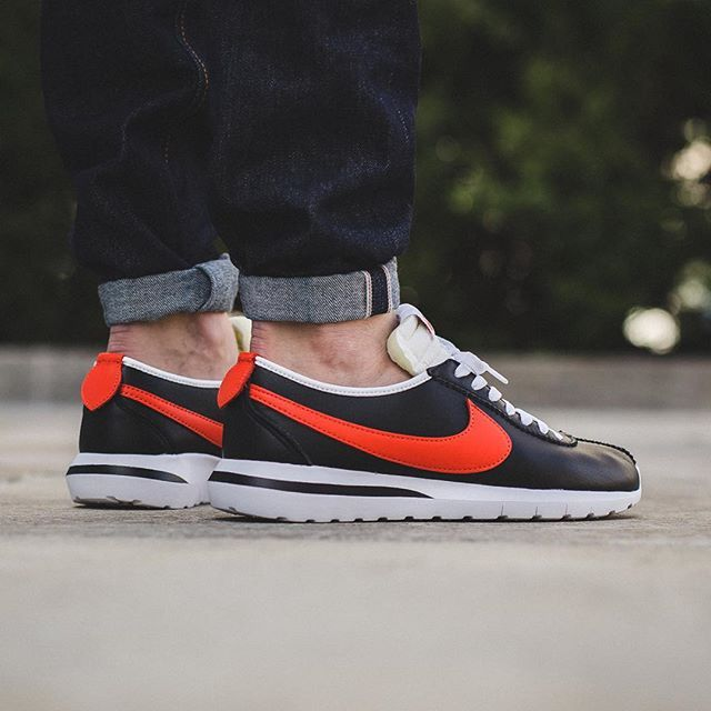 Nike Roshe Cortez NM Leather - Black/Team Orange available now in