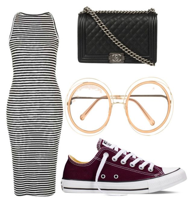 """""""Untitled #205"""" by journeycarothers on Polyvore featuring Chloé, Topshop, Converse and Chanel"""